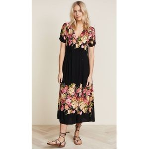 NWT Free People Jaimie Surplice Midi Dress